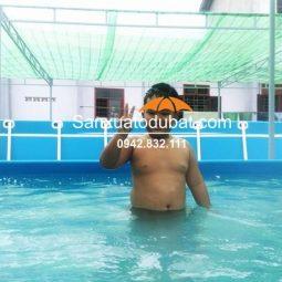 Bể bơi khung kim loại kích thước 9.6*20.1