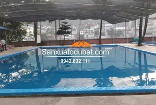 Hồ bơi bằng bạt âm mặt đất