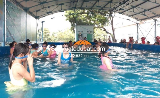 Bể bơi di động lắp đặt tại Gia Lai