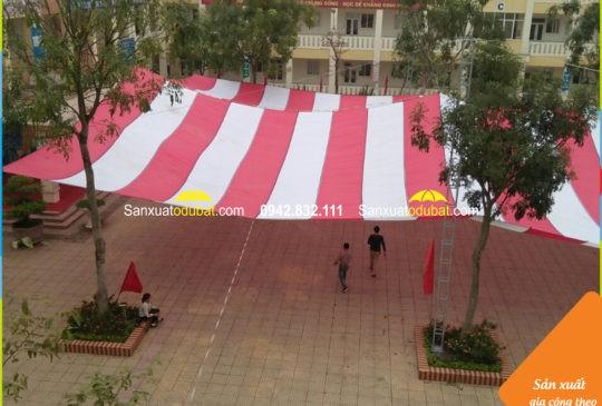 Dù che sân trường tại Sóc Sơn – Hà Nội